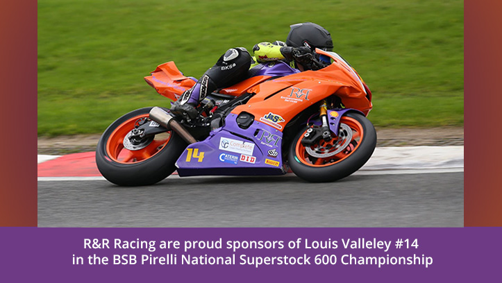 proud to sponsor Louis Valleley in BSB Pirelli National Superstock 600